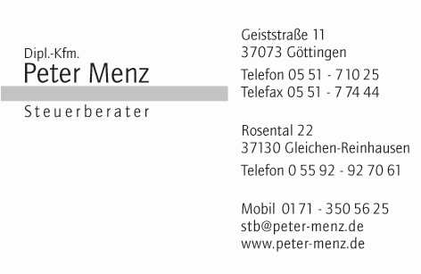 Steuerberater Peter Menz